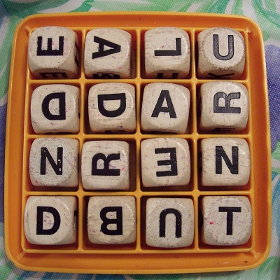 Our fourth game of Boggle