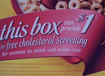 Cheerios: Free cholesterol screening