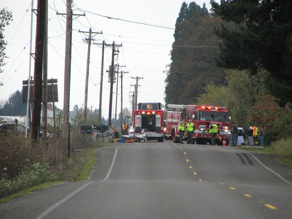 Hubbard, Oregon -- crash site