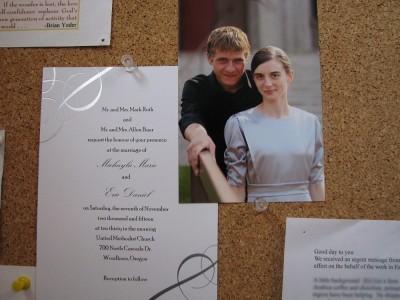 Eric Baer & Michayla Roth's wedding announcement