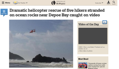 Fogarty Creek (Oregon Coast) Helicopter Rescue