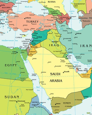 Mark's CIA map of the Middle East