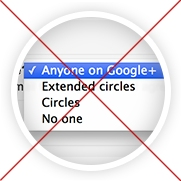 crossed out google plus setting