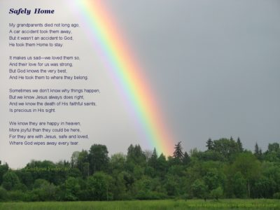 Safely Home, a granddaughter's poem
