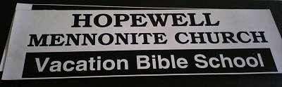Hopewell Mennonite Church magnetic signs for vehicles