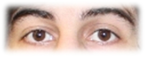 Dzhokar Tsarnaev's eyes up close