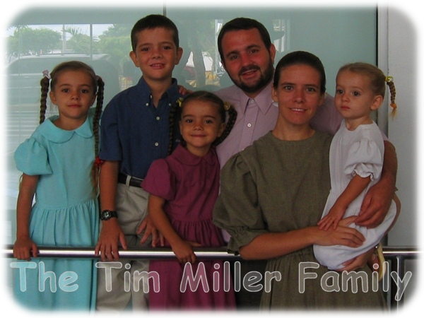The family of Timothy David Miller of Nicaragua
