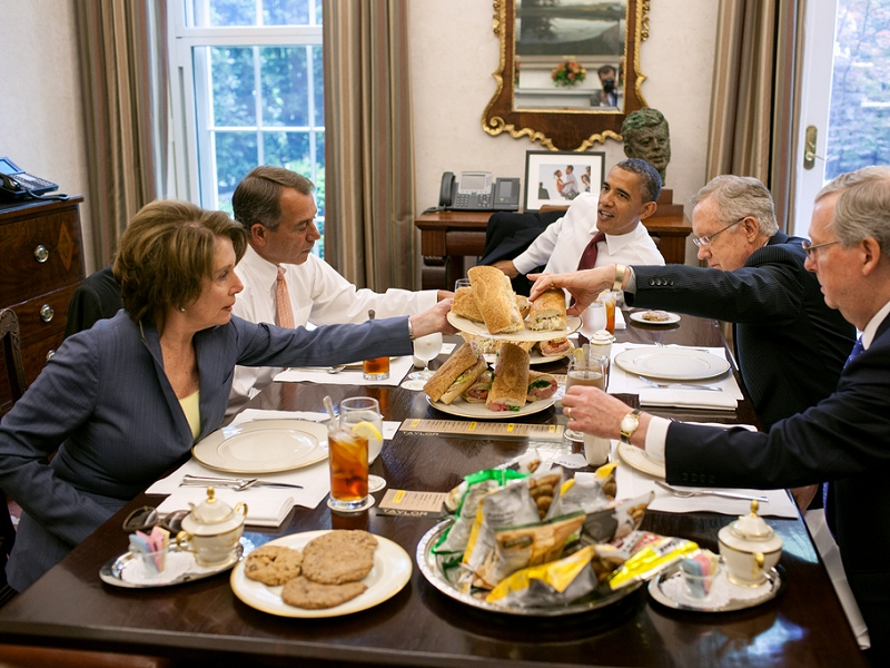Five for breakfast at the White House