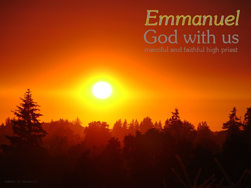 [The Scriptures say in Matthew 1:23; Hebrews 2:17 -- Emmanuel...God with us...merciful and faithful high priest]